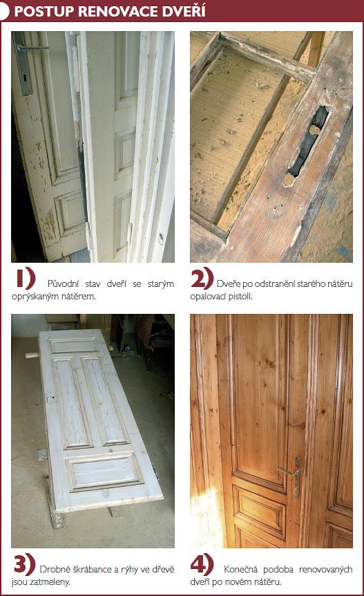 Renovace starých dveří postup