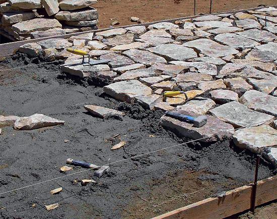 Suchý beton použití