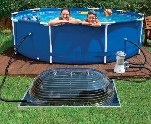 Solární ohřev vody v bazénu svépomocí