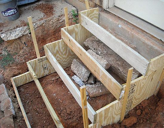 Jak vybetonovat schody