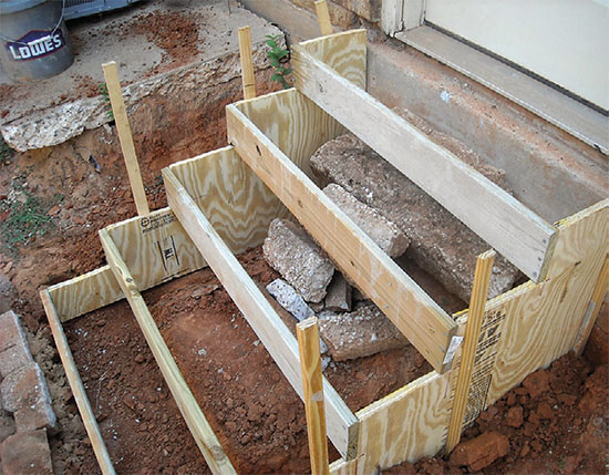 betonov zahradn schody chata chalup. Black Bedroom Furniture Sets. Home Design Ideas
