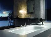 Nejlepší vizuální dojem poskytuje flush-fit instalace vany BetteLux v kameni či jiných obkladových materiálech, se kterými dokonale splývá