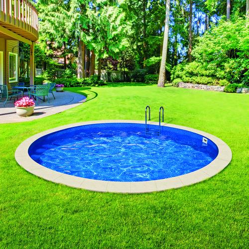 Rodinný bazén Azuro Ibiza ze zesíleného pozinkovaného plechu se vyrovná luxusním kopaným bazénům (Mountfield)
