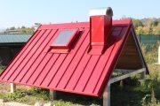 Model střechy: KERAkryt v odstínu RAL 3009, prezentace krytiny včetně vyráběných prvků