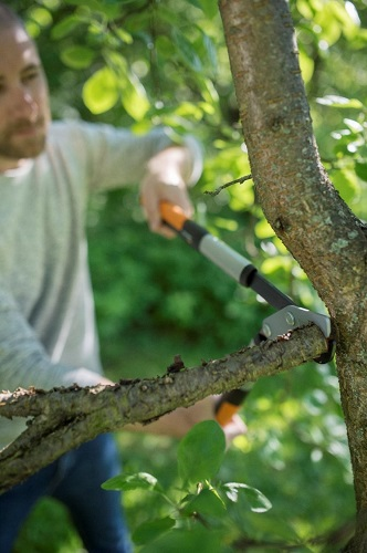 Silné větve se dají odstranit bez námahy
